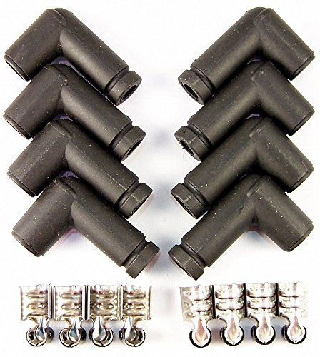 90 Degree HEI Distributor Spark Plug Ignition Wire Boot & Terminal Kit (90 Degree Boots)