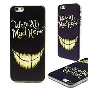Alice In Wonderland, We Are Mad Here,iPhone 5 5s Protective Soft tpu clear edge Case Cover protector skin for iphone 5 5s