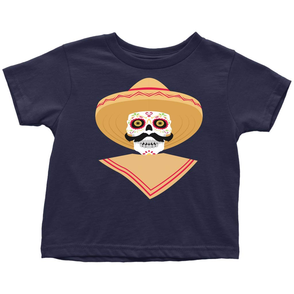 IRINA KIRO Toddler T-Shirt Happy Day of The Dead Baby Party Tee Baby Boys Tees