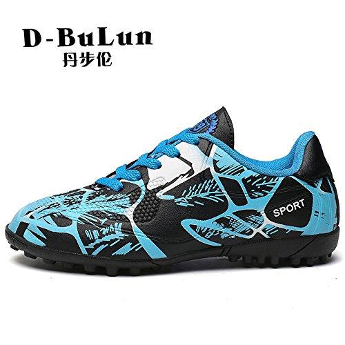 Xing Lin Fußballschuhe Frühling Neue Fußball Schuhe Jungen Studenten Rutschfeste Jungen Und Mädchen Gebrochen Nagel Sportschuhe blue