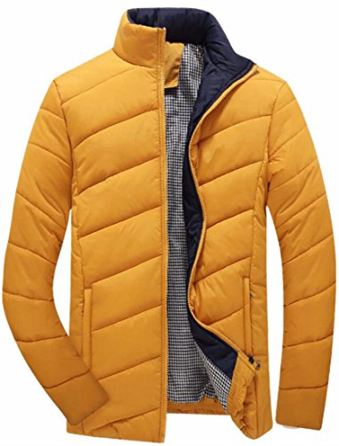 Oggi Parka Puffer Cappotto Size up Zip Giù uk Piumino Warm Giallo Plus Mens rxwACZ4qr