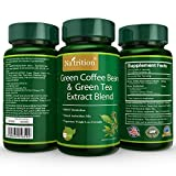 Natrition Green Coffee Bean plus Green Tea Extract Blend Capsules – Weight Loss Herbal Supplement Mix – 60 Capsules per Bottle, 1 Month Supply Review