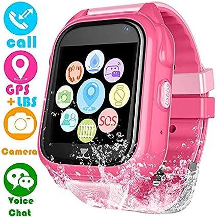 Amazon.com: Reloj inteligente para niños, reloj GPS no ...