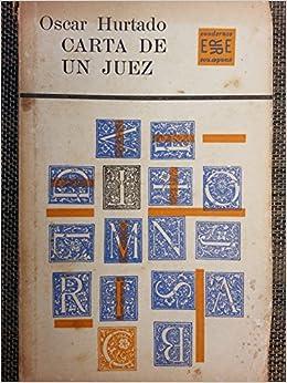 Amazon.com: Carta De Un Juez.cuentos.primera Edicion 1963 ...