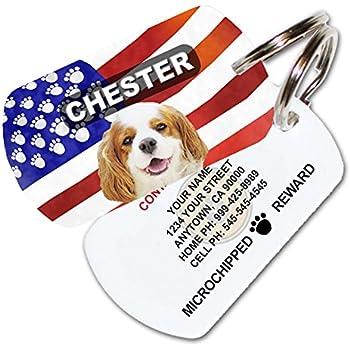 Amazon Com Patriotic American Flag Custom Pet Id Tag