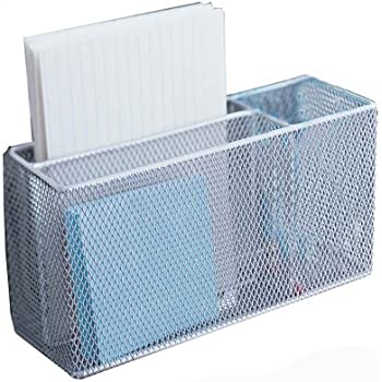 Design Ideas Mesh Magnet Organizer, Silver