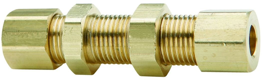 Dixon 1//4 Brass Bulkhead Union Compression Fitting 62CBH-04