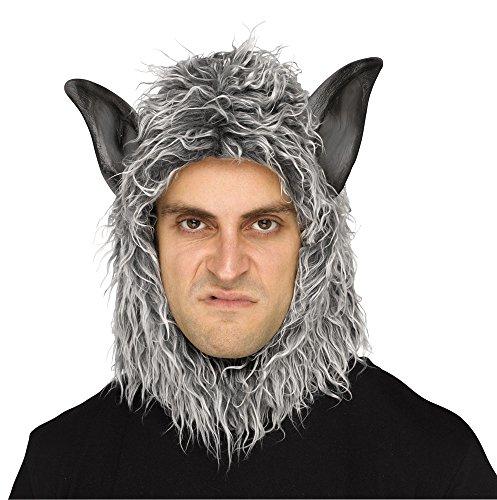 Fun World Wolf Man Or Beast Mask Grey ()