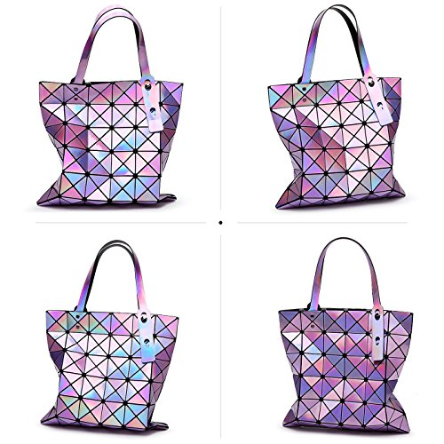 geometrica borsa Borsa Tisdaini per Laser spiaggia da da tracolla le per Rosa borsa spiaggia a donne pieghevole donna 8Uq4Uvw