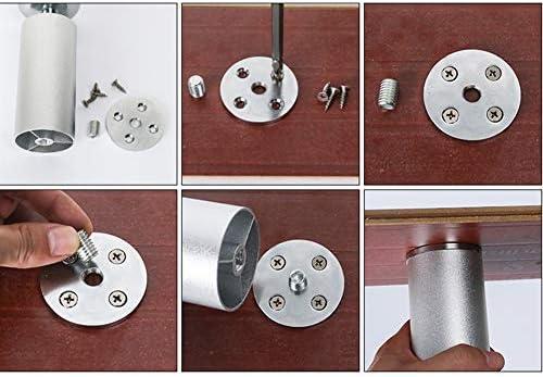 4 patas de aluminio plateado para muebles mesa//armarios//estantes patas de repuesto para muebles de 4,5 pies patas para armario protectores de suelo muebles modernos