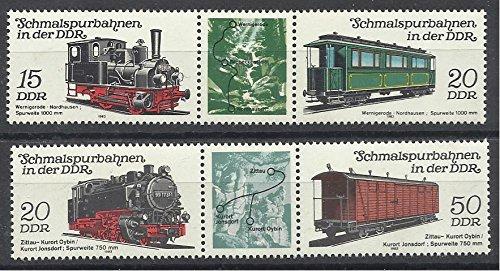 German DDR Stamps 1983 New MNH 4v. Complete Set Railways Locomotives & Passenger Trains. ()