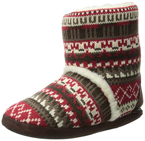 Muk Luks Scarpone Da Donna Sherpa Slipper, Lodge Fair Isle Pazzo Fair Isle / Candy Apple