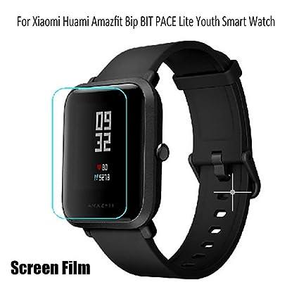 Sikai Protector de Pantalla para Xiaomi Huami Amazfit Bip 2 Piezas Arañazos Impermeable TPU Film Protector para Amazfit Bip bit Pace Lite A1608 Smart ...