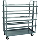 Akro-Mils RACR5MR Double-Sided Steel Mobile Tub Rack for Cross-Stack 34301 or 34303 Tubs, Gray