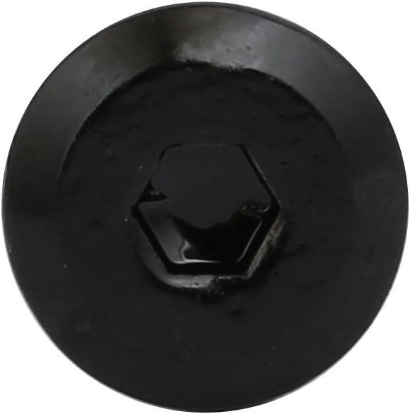 Aexit M6 x 15mm Stahl Rivet Sechskanteinsatz Zylindermutter Schwarz 30PCS 7b39dcf12651125b3a4d10d7119c0436