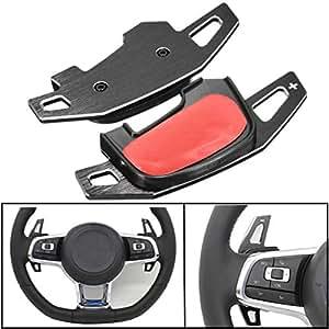 ZHOUMOBP Car Steering Wheel Shift Paddle Extension Auto Aluminium Shift Gear,For VW Golf MK7 GTI GTD