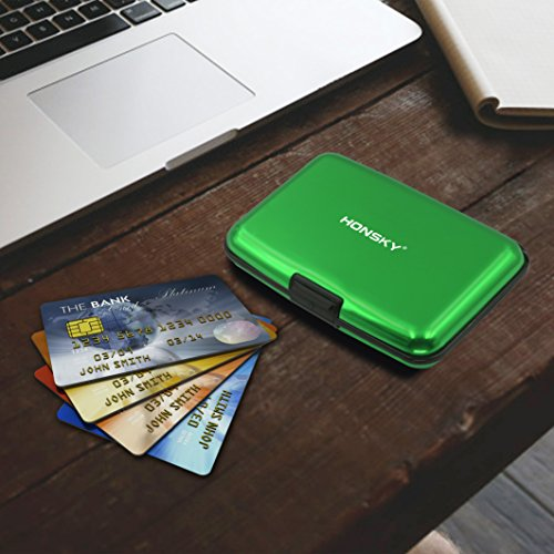 RFID Blocking Credit Card Holder Honsky Aluminum Armored
