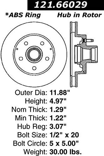 Centric Parts 121.67021 C-Tek Standard Brake Rotor
