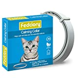 Fedciory Calming Collar for Cats - Adjustable Relieve Reduce Anxiety Pheromone Your Pet Lasting Natural Calm Collar Up to 15 Inch Fits Cat