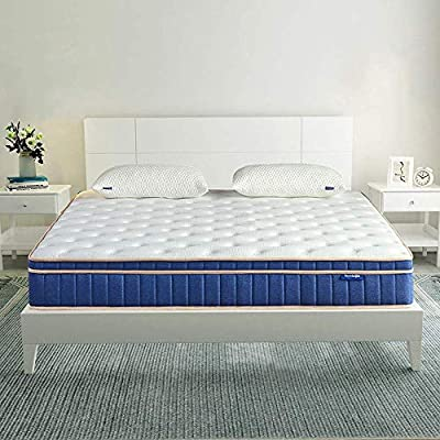 Queen Mattress- Sweetnight Queen Size Gel Memory Foam Hybrid Mattress,8 Inch Individually Pocket Spring pillowtop Mattress,Supportive & Great Motion Isolation for a Restful Sleep