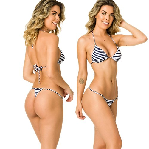 2af1c291101b3 Galleon - Coqueta Swimwear Womens Sexy G-String Teeny Mini Brazilian Thong  Swimsuits-Marine