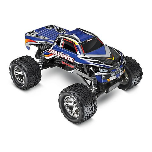 Traxxas Stampede 1/10 Scale 2WD Monster Truck with TQ 2.4GHz Radio, Blue