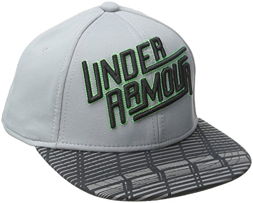 Under Armour Boys' Eyes Up 3.0 Flat Brim Stretch Fit Cap, Steel (035)/Black, Youth X-Small/Small
