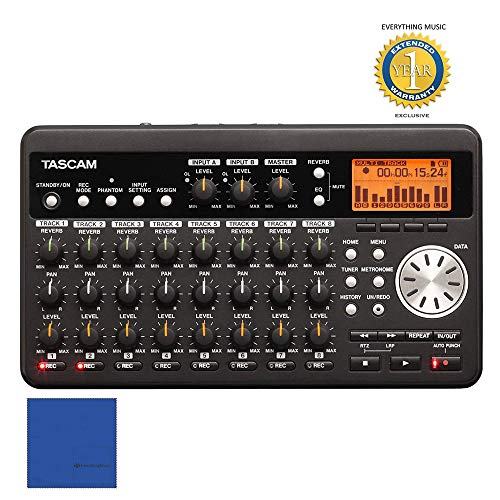 Tascam DP-008 8-Track Digital Portastudio with 1 Year Free Extended Warranty (Tascam Dp 008 8 Track Digital Portastudio)
