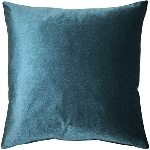 PILLOW D COR Corona Teal Velvet Pillow 19×19