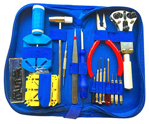 EZTool Watch Repair Kit with 16 Tools and 41-Page Illustrated Maintenance & Service Manual from EZTool