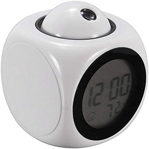 Alarmclocker8B Atención Proyección Digital Tiempo LCD Snooze ...