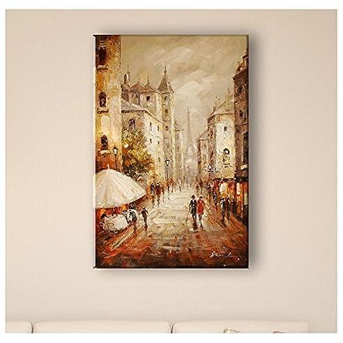 Bild Malerei Eiffelturm – 60 x 100 cm - 60 x 100 cm
