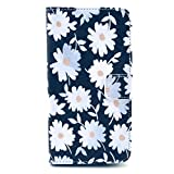 SuperMore YX Excellent Pattern Holster for IPhone4S IPhone 4S 4 4G IPhone4 with PU and TPU inside Cover Magic Button Holder Stander Card hole Protective Phone Case - Black Daisy