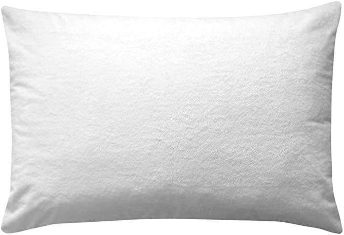 Pack of 2 Pillow Protectors With Zip -Liquid Resistant -(50 X 90 Cm) 100% Cotton Dust Mite Resistant - Machine Washable - Anti-Allergy, Anti-Bacterial BY Victoria Bedding: Amazon.es: Hogar