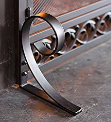 Small Cast Iron Scrollwork Fire Screen With Doors by Plow&Hearth®