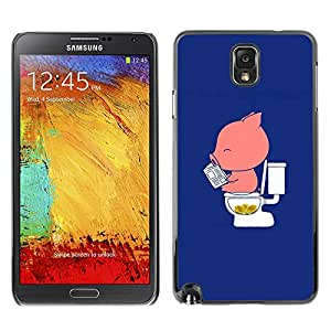 PC/Aluminum Funda Carcasa protectora para Samsung Note 3 N9000 N9002 N9005 Cartoon Funny Blue Pink Minimalist / JUSTGO PHONE PROTECTOR