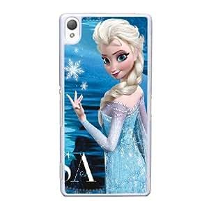 Princesa Elsa Frozen funda sony Xperia Z3 caso del teléfono celular funda C3T0QXWYPV blanco