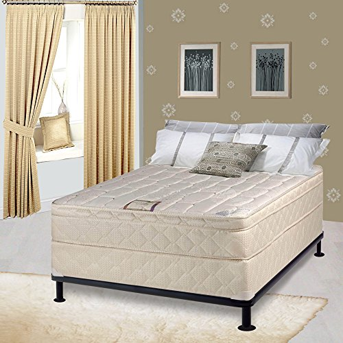 Spring Solution Long Lasting 10' Pillowtop Fully Assembled Orthopedic Back Support  Twin Mattress and Box Spring,Deluxe Collection