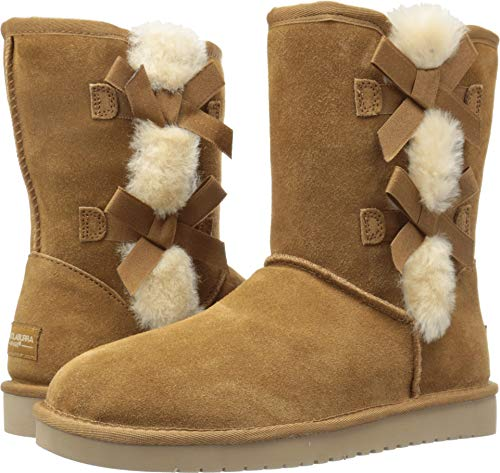 Chestnut Boots Koolaburra (Koolaburra by UGG Women's Victoria Short Fashion Boot, Chestnut, 10 M US)