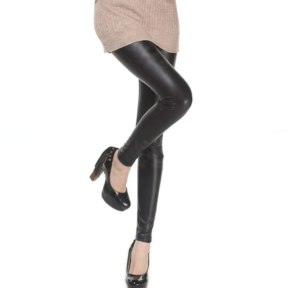 df2a0d7800a8e Women High Waisted Faux PU Leather Leggings Stretchy Slim Fit Trousers:  Amazon.co.uk: Clothing