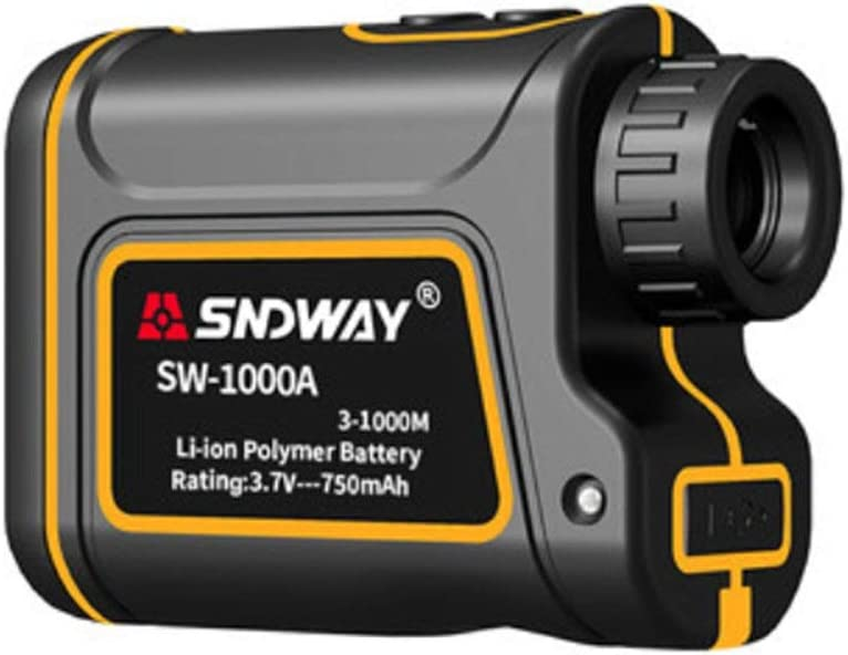 CompraJunta 600m/1000m/1500m Golf Telémetro Laser Binocular,Profesional Medidor LCD Display de Distancia/Velocidad/Àngulo/Altura,Recargable Batería de Litio,7x24mm Field 7º,1000m