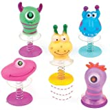 Monster Jump-Ups 6 Assorted Party Bag Stuffers for Boys & Girls, Children's Prizes Ideas for a Small Gift (Pack of 6)