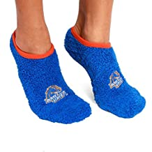 NCAA Boise State Broncos Foot-Z-Sox Slipper Socks, One Size, Blue by Fabrique Innovations