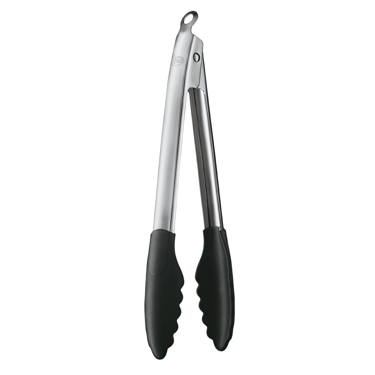 Rosle Stainless Steel Lock & Release Silicone Coated Cooking Tongs, 12-inch