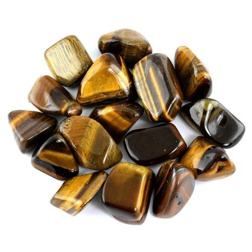 Crystal Allies Materials: 1/2lb Bulk Tumbled Gold Tigers Eye Stones from South Africa - Large 1