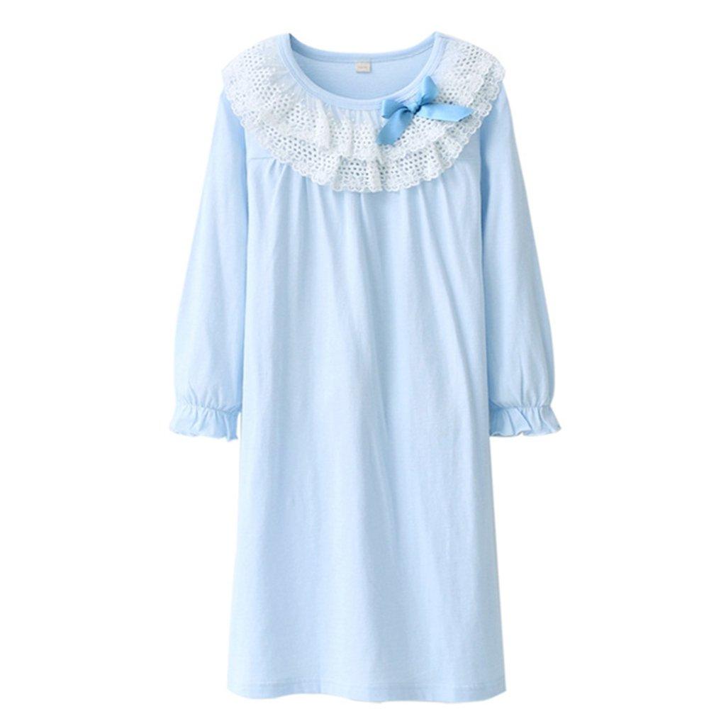 Camisón Niñas Camisones Encaje Bowknot Pijamas de Algodón de 4-8 Años Shenzhen Windy Trading Co. Ltd