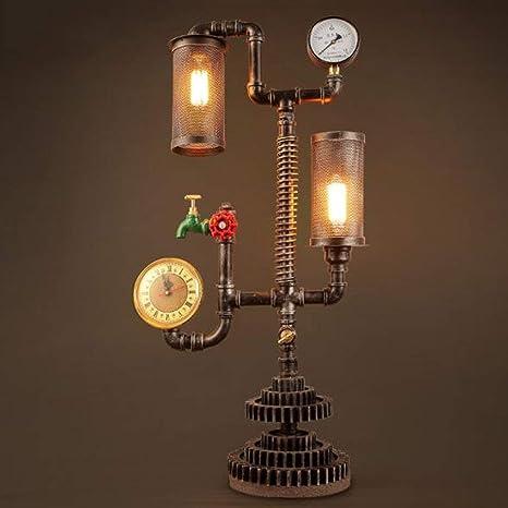 HAIYUGUAGAO Lámpara creativa de mesa industrial vintage ...