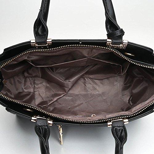 Carteras bandolera de Gris clutches de hombro Mujer Shoppers bolsos y Bolsos y mano qPx70wY6