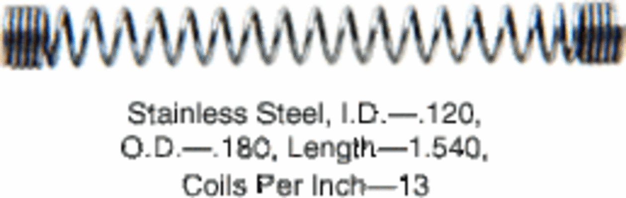 CRL 8566K 1.54; Long Slide Bolt Spring in a 20 Pack