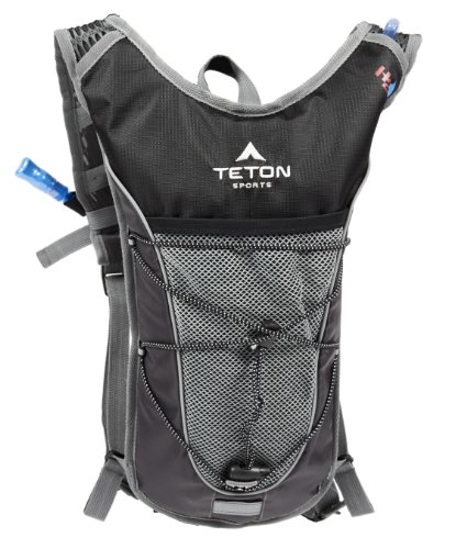 TETON Sports Trailrunner 2.0 Hydration Backpack w/ Bladder (16.5″x 10.5″x .7″, Black), Outdoor Stuffs